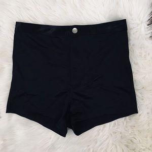 Black Disco Booty Shorts